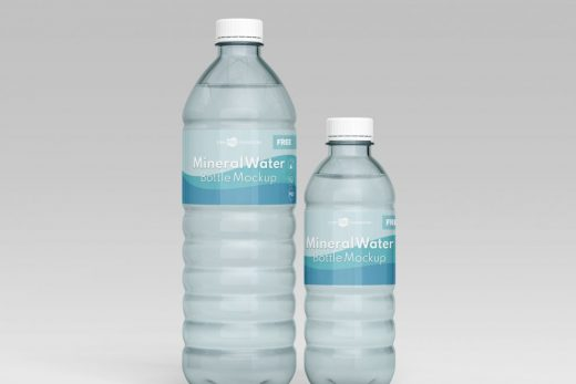 Mineral Water Bottle Free Mockup