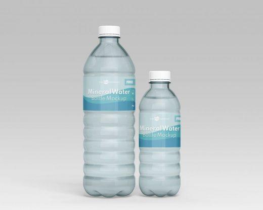 Mineral Water Bottle Free Mockup