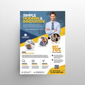 Modern Business Ad Free Flyer Template (PSD)