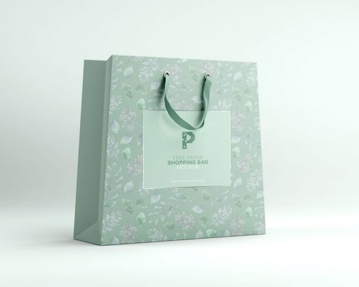 Paper Shopping Bag Free Mockup