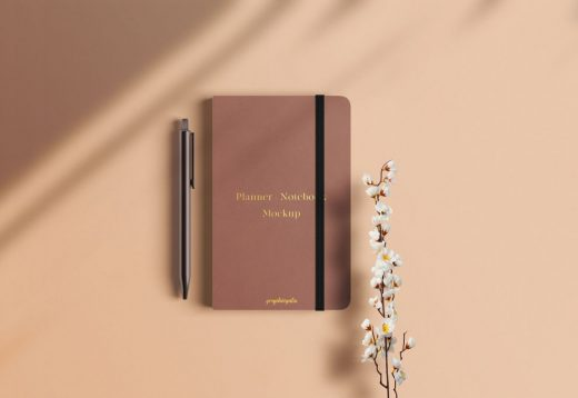 Planner Notebook Free Mockup
