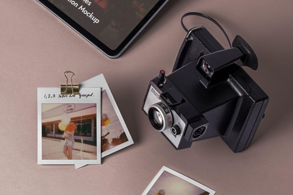 Polaroid Frame Free Mockup