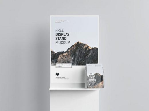Poster Display Free Mockup