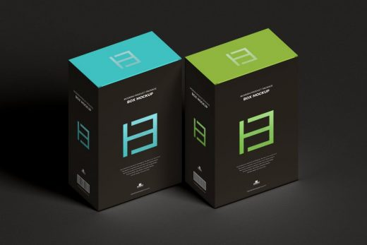 Product Package Box Free Mockup (PSD)