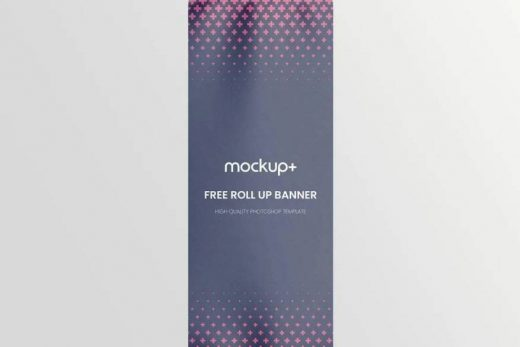 Roll-Up Banner Free Mockup (PSD)