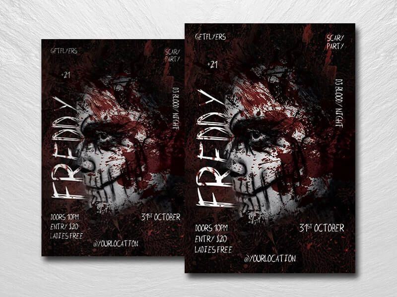 Scary Night Halloween Free Flyer Template (PSD)