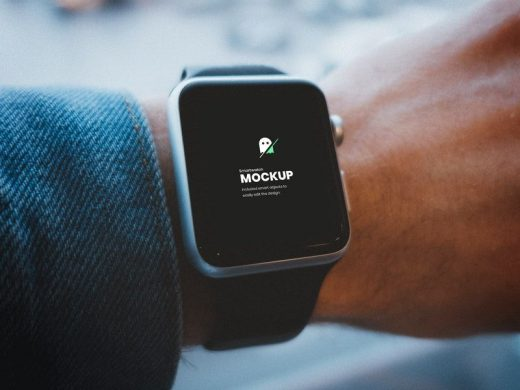 Smartwatch on Hand Free Mockup