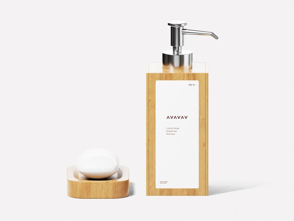 Soap Dispenser Bottle Free Mockup