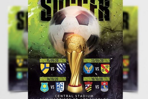 Soccer Championship Free Flyer Template (PSD)