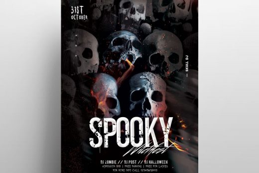 Spooky Halloween Night Free Flyer Template (PSD)