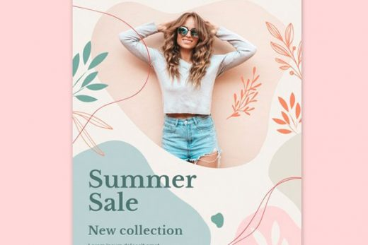 Summer Collection Sale Free Flyer Template (PSD)
