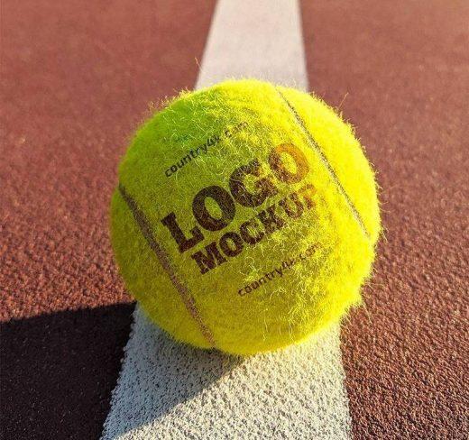 Tennis Ball Logo Free Mockup