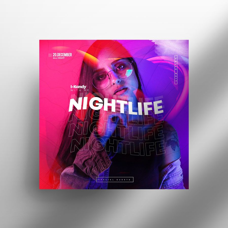 The Club Life Free Party Flyer Template (PSD)