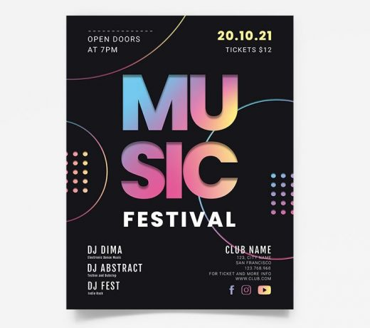 The Music Festival Free Flyer Template (PSD)