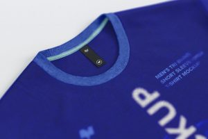 Thin Label on Men's T-Shirt Free Mockup