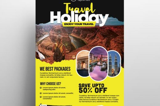 Travel Agency Business Free Flyer Template (PSD)