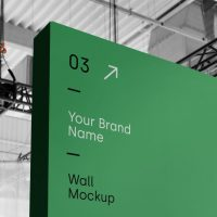 Wall Advertisment Free Mockup