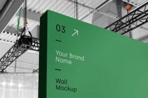 Wall Advertisment Free Mockup