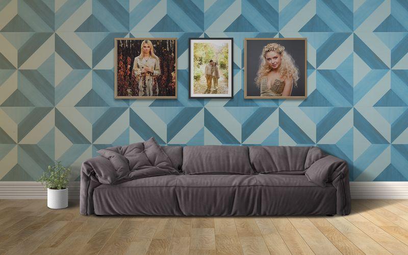 Wall Frames and Interior Scenes Free Mockup