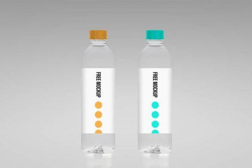 Water Bottle Free Mockup (PSD)