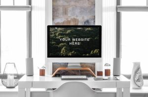 iMac 27″ Screen Free Mockup