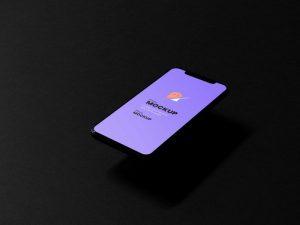 iPhone 11 in Dark Scene Free Mockup