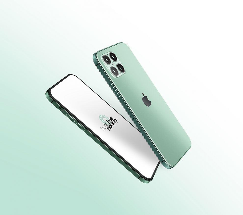 iPhone 12 Free Mockup (PSD)