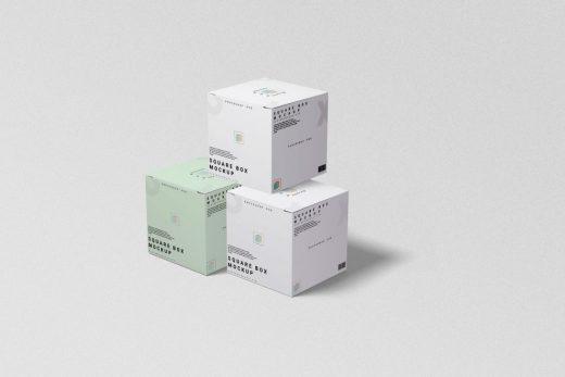 3 Square Boxes Free Mockup