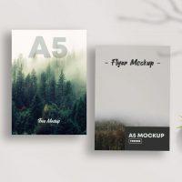 A5 Flyer Free Mockup (PSD)