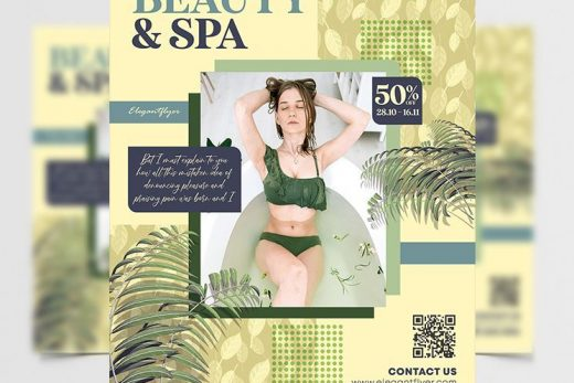 Beauty & Spa Free Flyer Template (PSD)