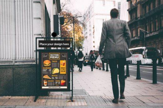 Billboard on Street Free Mockup