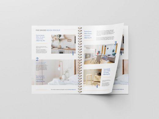 Binded Book & Catalog Free Mockup