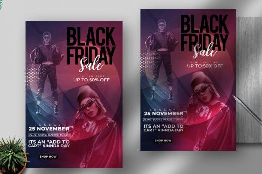 Black Friday Fashion & Apparel Free Flyer Template (PSD)