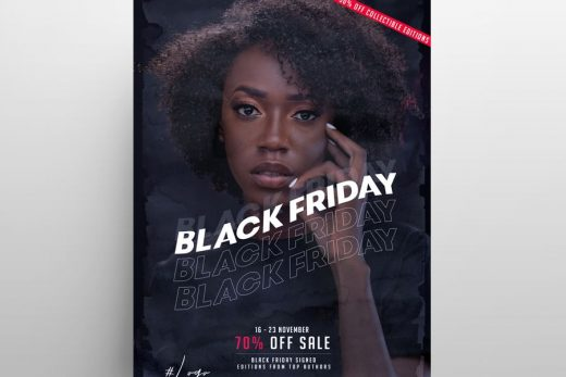 Black Friday Fashion Sale Free Flyer Template (PSD)