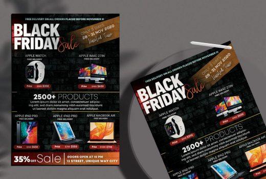 Black Friday Mega Sale Free Flyer Template (PSD)