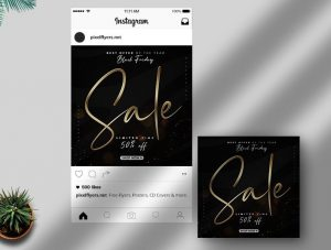 Black Friday Sale Free Instagram Post Template