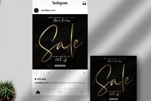Black Friday Sale Free Instagram Post Template