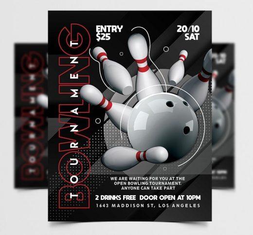 Bowling Tournament Free Flyer