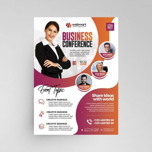 Business Meet Conference Free Flyer Template (PSD)