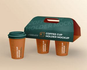 Coffee Cup Holder Free Mockup (PSD)