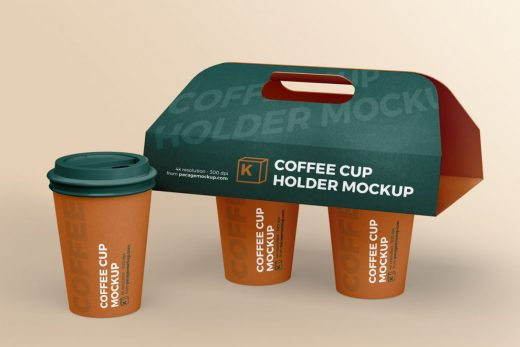 Coffee Cup Holder Free Mockup