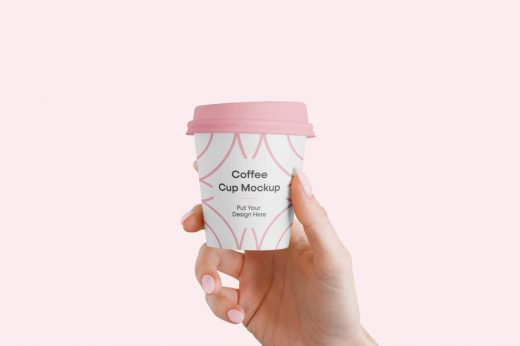 Coffee Cup in Hand Free Mockup