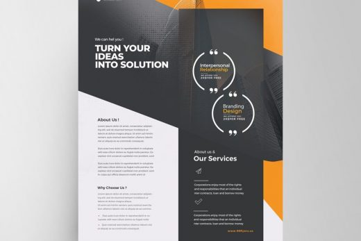 Corporate Services Free Flyer Template (PSD)