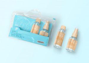 Cosmetic Kit Bottles Free Mockup