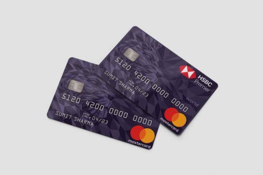 Credit Card Free Mockup