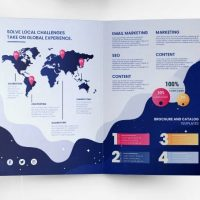 Free Marketing Ad Bi-Fold Brochure Template (PSD)