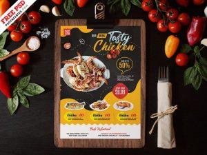 Free Restaurant Food Menu PSD Template