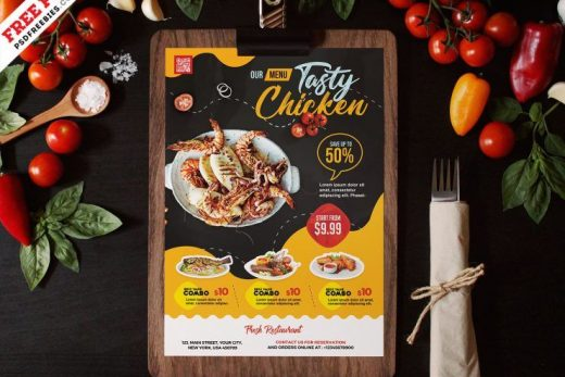 Free Restaurant Food Menu PSD Template