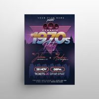Free Retro 90s Party Flyer Template (PSD)
