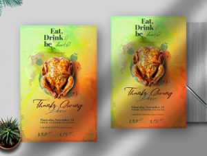 Free Thanksgiving Event Flyer Template (PSD)